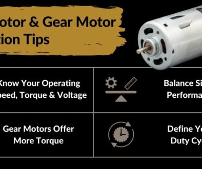 dc motor and dc gear motor selection tips