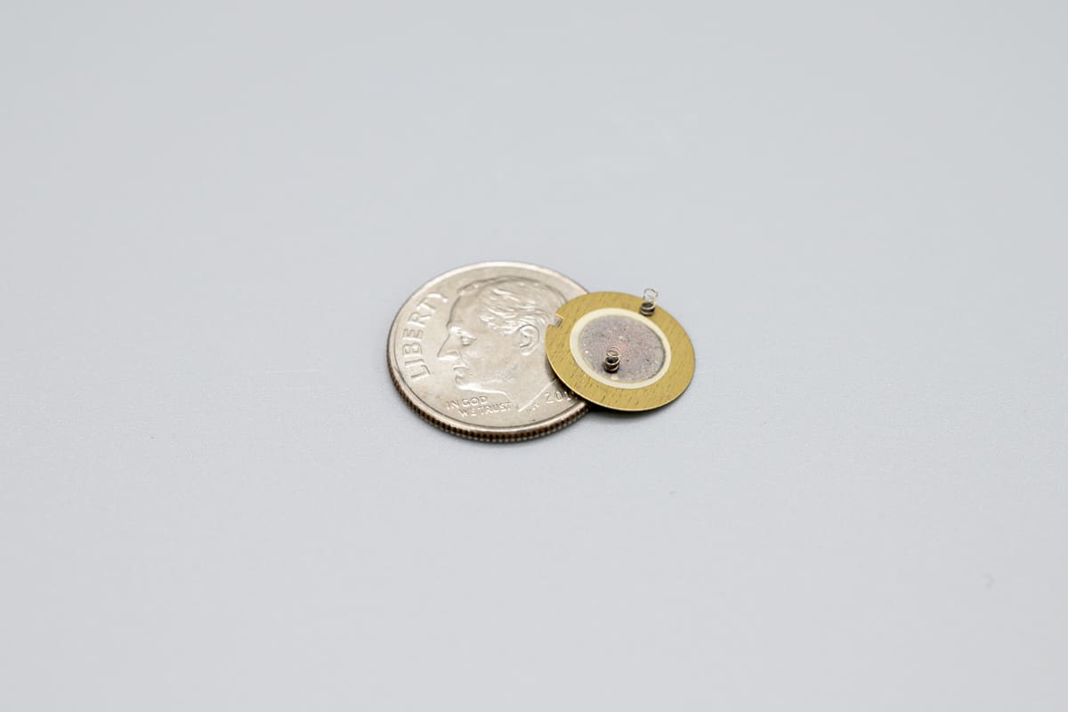 8mm Piezo Ceramic Disc with Springs