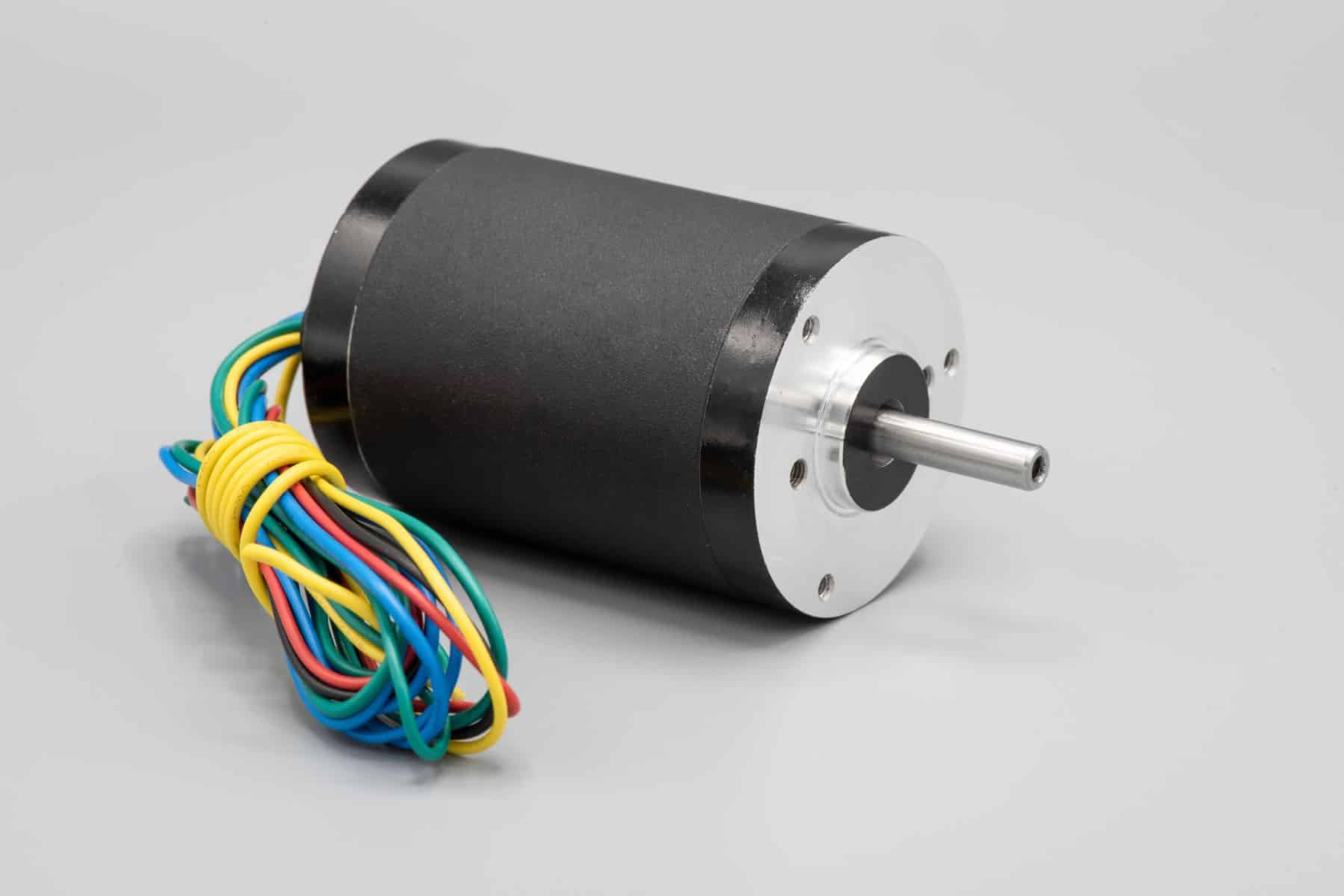 Round Brushless DC Motor - Side View